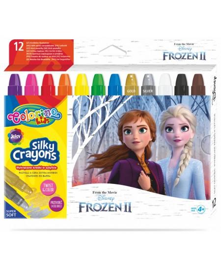 """Kreidelės COLORINO Disney \""""Ledo šalis\"""", 12 spalvų"""