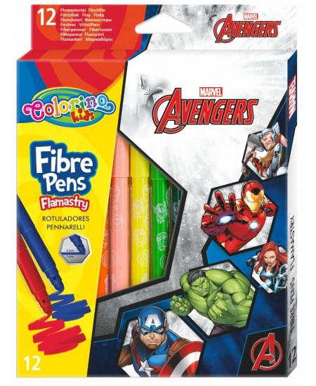 """Flomasteriai COLORINO Marvel """"Keršytojai"""", 12 spalvų"""