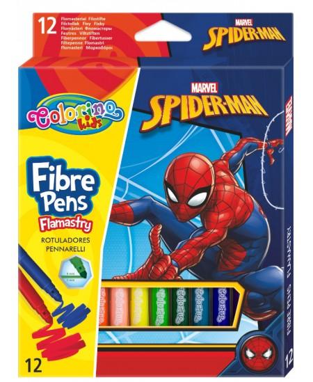 """Flomasteriai COLORINO Marvel \""""Žmogus voras\"""", 12 spalvų"""