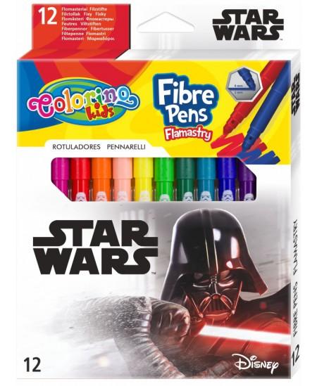 """Flomasteriai COLORINO Marvel """"Žvaigždžių karai"""", 12 spalvų"""