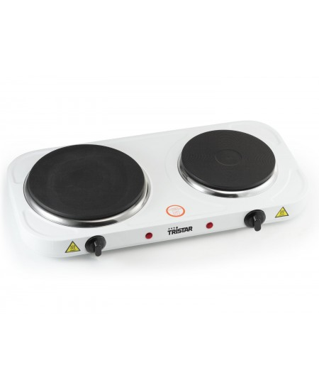 Tristar Free standing table hob KP-6245 Number of burners/cooking zones 2, Rotary, White, Hot plate, Electric