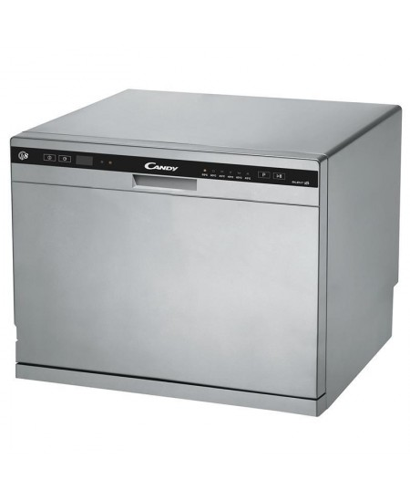 Candy Dishwasher CDCP 8S Free standing, Width 55 cm, Number of place settings 8, Number of programs 6, A+, Silver
