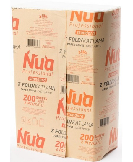 Lapiniai popieriniai rankšluosčiai LILA NUA, Z lenkimas, 200 lap., 1 pakelis