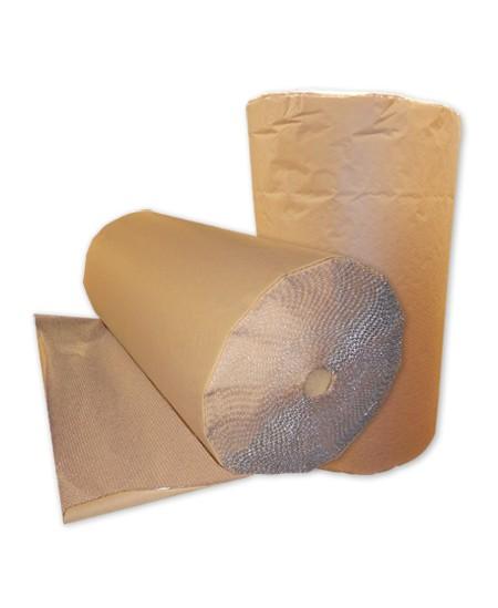 Burbulinė plėvelė su kraft popieriumi, rulone 1.50x50 m