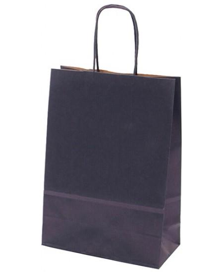 Dovanų maišelis linijuotas, 25x18x8 cm, mėlynas