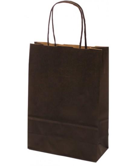 Dovanų maišelis linijuotas, 25x18x8 cm, juodas
