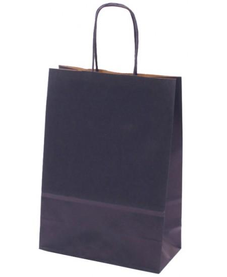 Dovanų maišelis linijuotas, 32x23x10 cm, mėlynas