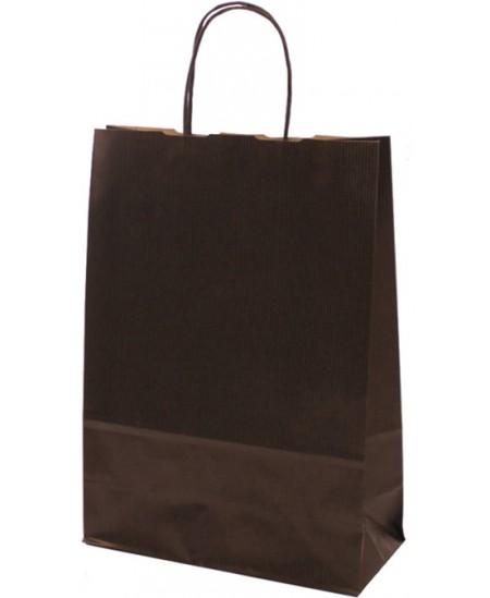 Dovanų maišelis linijuotas, 32x23x10 cm, juodas