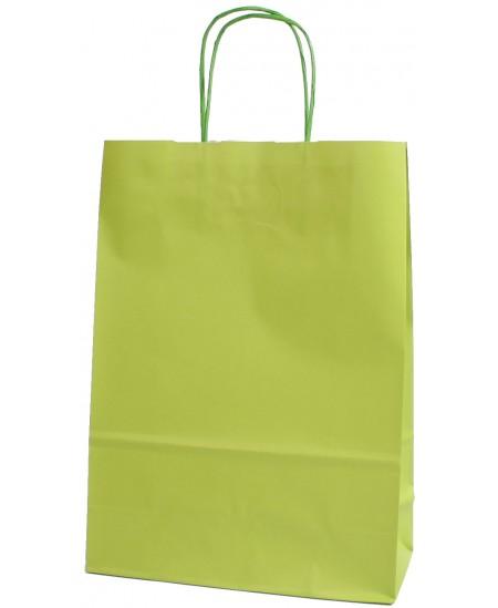Dovanų maišelis 32x23x10 cm, salotinis
