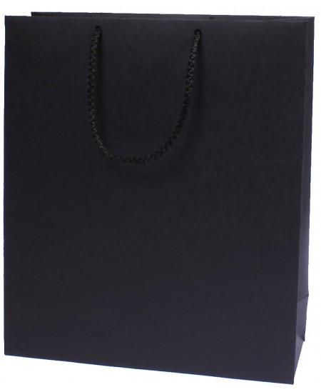 Dovanų maišeli, 18x24x9 cm, juodas