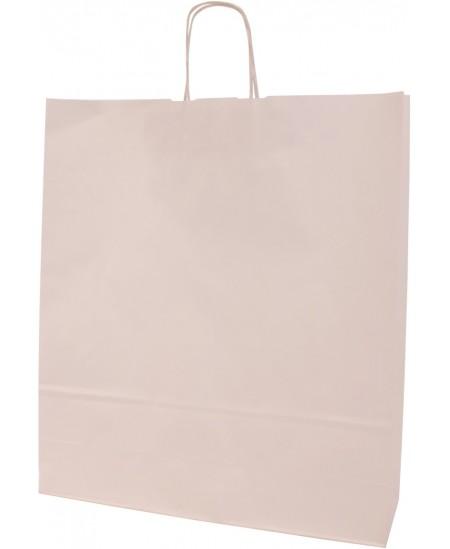Dovanų maišelis linijuotas, 50x44x14 cm, baltas