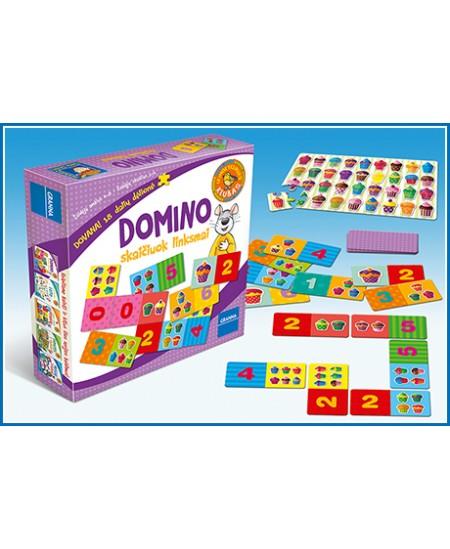 """Stalo žaidimas \""""Domino. Skaičiuok linksmai\"""""""