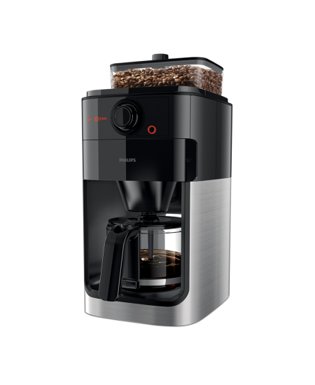 Philips Coffee maker Grind & Brew HD7767/00 Drip, 1000 W, Black/Metal