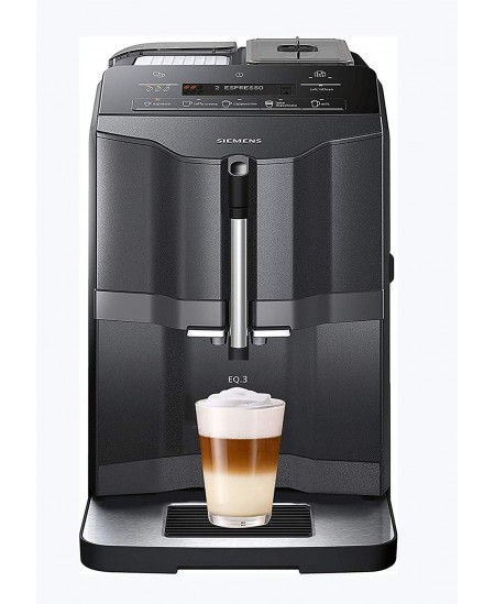 SIEMENS Coffee Machine TI313219RW Pump pressure 15 bar, Built-in milk frother, Fully automatic, 1300 W, Black/ stainless steel