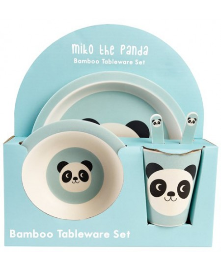 "Bambukinis indų rinkinys REX LONDON \""Miko the Panda\"", 5 vnt."