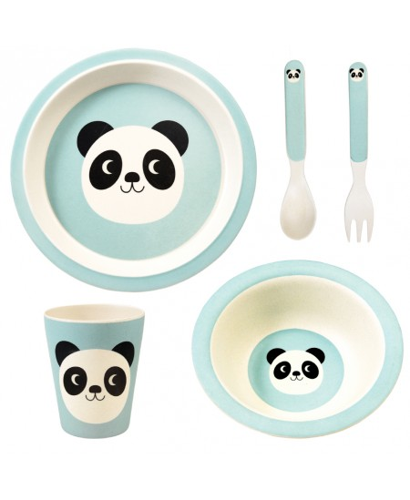 "Bambukinis indų rinkinys REX LONDON ""Miko the Panda"", 5 vnt."