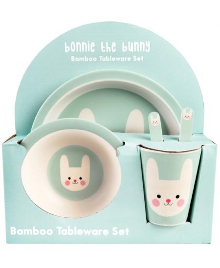 "Bambukinis indų rinkinys REX LONDON \""Bonnie the Bunny\"", 5 vnt."