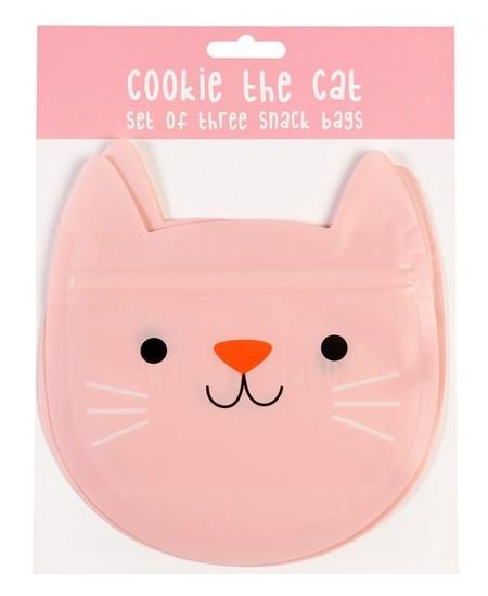 """Užkandžių maišeliai REX LONDON \""""Cookie the Cat\"""", 3 vnt."""