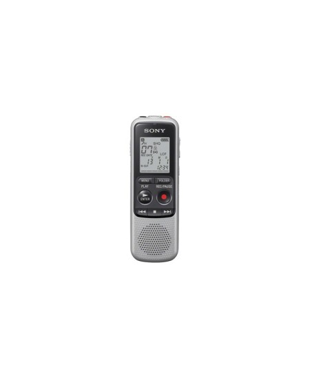 Sony ICD-BX140 Grey, MP3 playback, 4GB Digital Voice Recorder with MP3/HVXC recording/playback