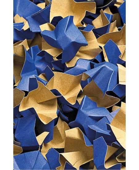 Popierinės drožlės, 120 l, mėlynos ir rudos spalvos