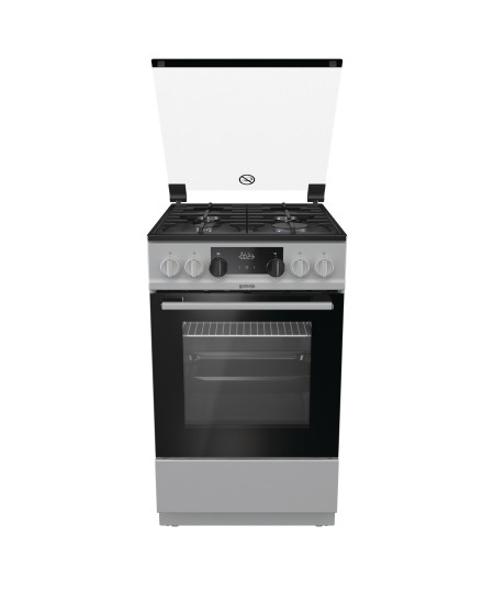 Gorenje Cooker K5341SF Hob type  Gas, Oven type Electric, Silver, Width 50 cm, Electronic ignition, Grilling, LED, 70 L, Depth 5