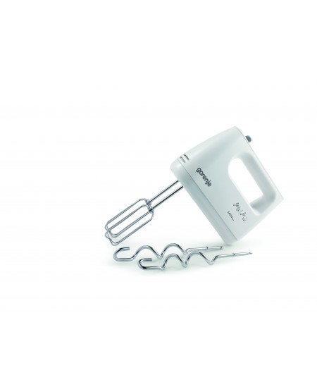 Gorenje M360CW Hand Mixer, 345 W, Number of speeds 5, Blade material Stainless steel, Shaft material Stainless steel, White