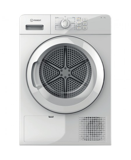 INDESIT Condenser Dryer YT CM08 7B EU Energy efficiency class B, Front loading, 7 kg, Condensation, LED, Depth 64.9 cm, White