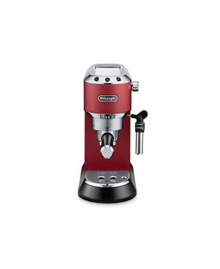 Delonghi Dedica Espresso Coffee Maker EC685.R Pump pressure 15 bar, Built-in milk frother, Semi-automatic, 1300 W, Red