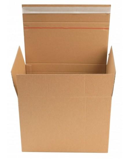 Siuntų dėžė su lipnia juostele, 285x190x180/150mm, rudos spalvos, 1 vnt.
