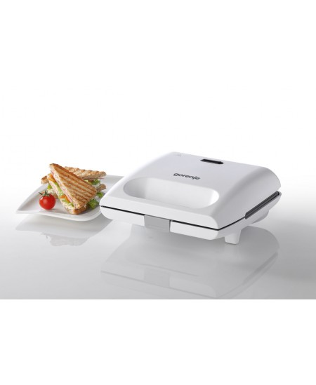 Gorenje Sandwich Maker SM701GCW 700 W, Number of plates 1, Number of pastry 1, White