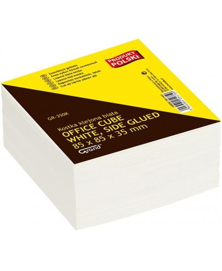 Lapeliai užrašams, 85 x 85 mm, balti, suklijuoti, 350 lapelių