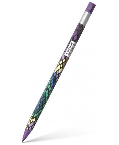 Automatinis pieštukas ERICH KRAUSE Color Touch, Purple Python, 2 mm