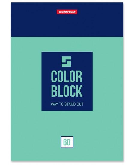 Bloknotas ERICH KRAUSE Color Block, А5, 60 lapų langeliais