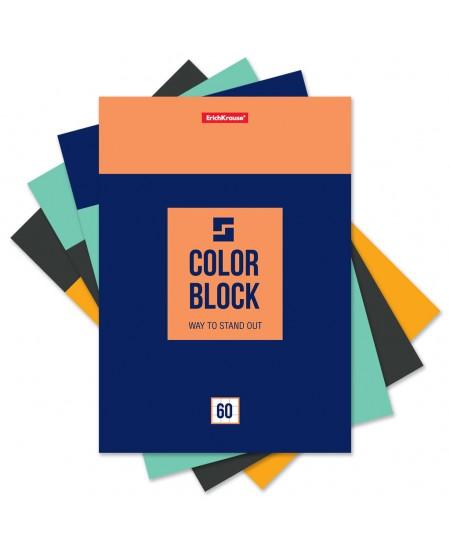 Bloknotas ERICH KRAUSE Color Block, А4, 60 lapų, langeliais, klijuotas viršuje