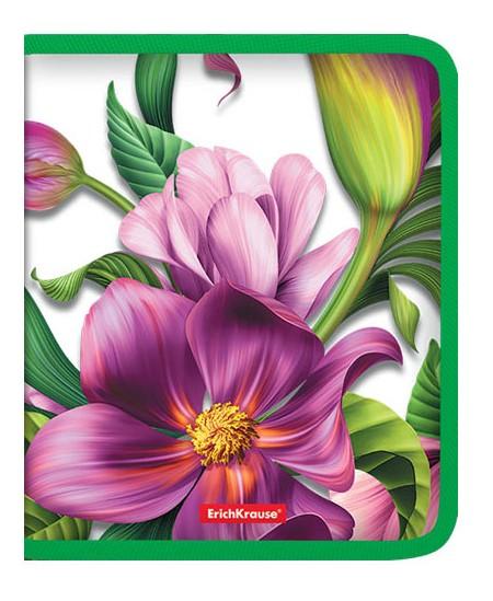 Aplankas su užtrauktuku ERICH KRAUSE Tropical Flower, A5+