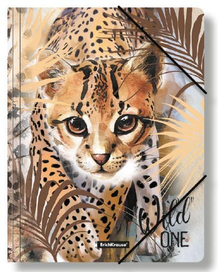 Aplankas su gumele ERICH KRAUSE Wild Cat, A4