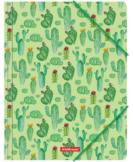 Aplankas su gumele ERICH KRAUSE Tropical Cactus, A4