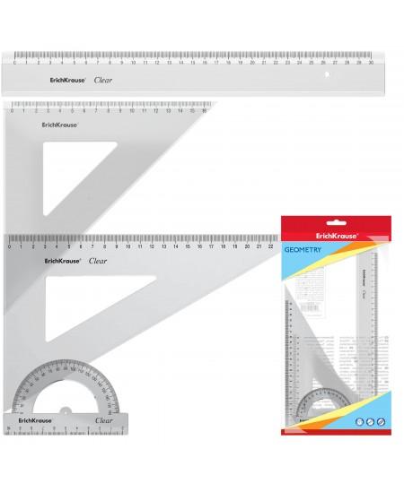Liniuočių rinkinys ERICH KRAUSE Standard Glitter, skaidrus