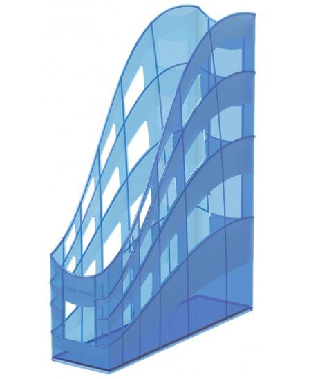 Dokumentų stovas ERICH KRAUSE S-Wing, Neon, 75 mm, mėlynos spalvos