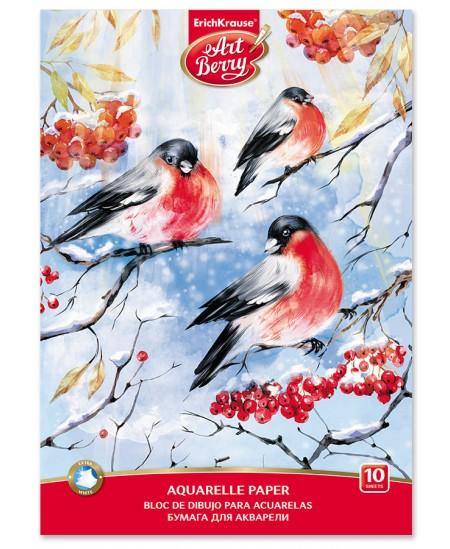 Akvarelinis sąsiuvinis ERICH KRAUSE ArtBerry Snowbirds, А4, 10 lapų
