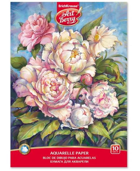 Akvarelinis sąsiuvinis ERICH KRAUSE ArtBerry Peonies, А4, 10 lapų