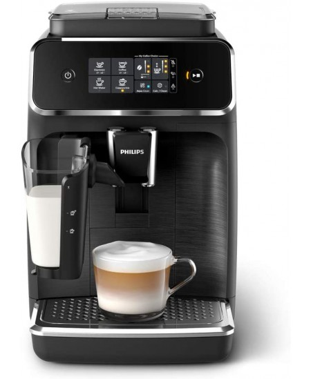 Philips Series 2200 Coffee Machine EP2232/40 Pump pressure 15 bar, Built-in milk frother, Fully Automatic, 1500 W, Black