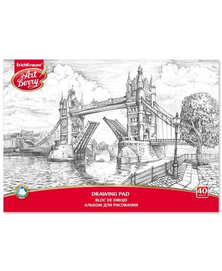 Piešimo sąsiuvinis ERICH KRAUSE ArtBerry London, А4, 40 lapų