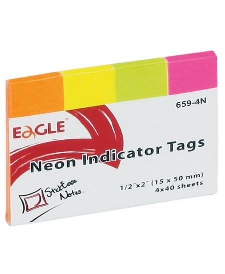 Lipnūs indeksai Eagle, 20 x 50 mm, 4 x 40 vnt.