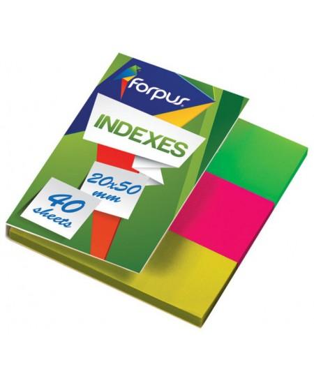 Lipnūs indeksai FORPUS, 20 x 50 mm, 3 x 40 vnt.