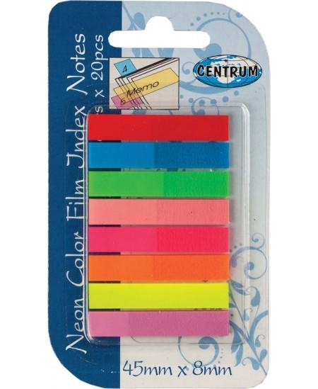 Lipnūs indeksai CENTRUM, 45 x 8 mm, plastikiniai, 8 x 20 vnt.