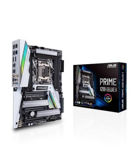 Asus PRIME X299-DELUXE II Processor family Intel, Processor socket LGA2066, DDR4, Memory slots 8, Chipset Intel X, ATX