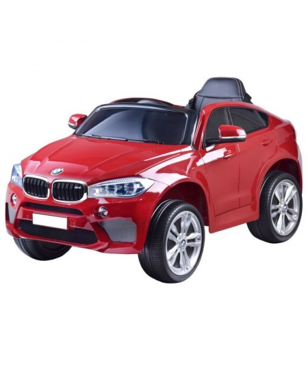 """Vaikiškas vienvietis elektromobilis """"BMW X6"""", raudonas"""
