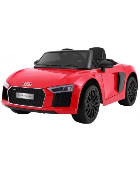 Naujausias licencijuotas raudonas elektromobilis AUDI R8