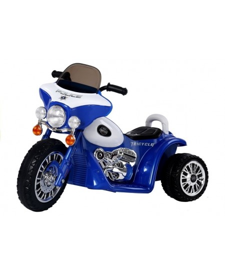 Kokybiškas elektrinis mėlynas triratis POLICE